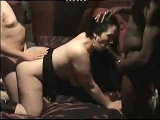 Chubby Wife Interracial Threesome By Two Strangers